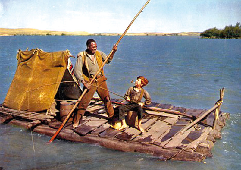 the symbolism of the raft and river in the adventures of huckleberry finn by mark twain